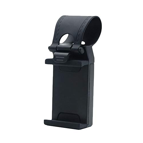 dulawei3 Universal Car Vehicle Steering Wheel Mount Mobile Phone Holder Bracket Stand for iPhone Xs MAX XR X 8/7/6/6s Plus Samsung Galaxy S5/S6/S7/S8/S9 Note 9 8 Huawei LG Black