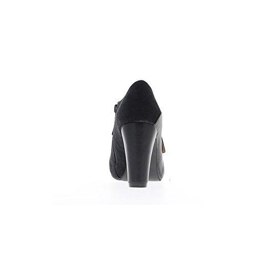 Escarpins look richelieux noirs femme à talons de 9cm