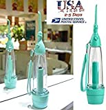 ( USA SHIPPING) HONEWIN Water Flosser Cordless Jet for Improving Gum Health. Reducing Plaque, Gingivitis and Gum Disease. Air Pressure, Does Not Need Electric Power (Green)
