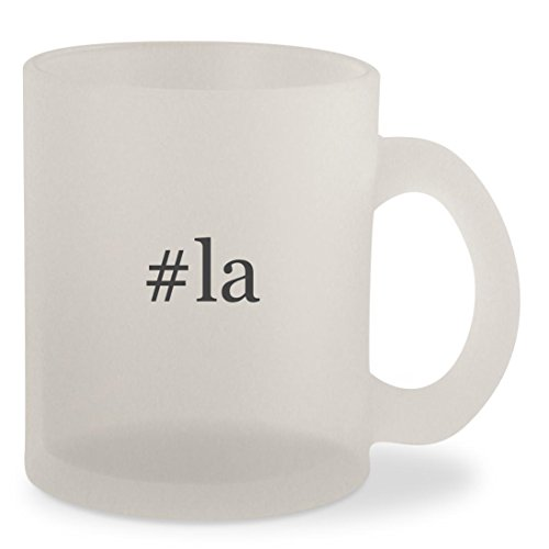 #la - Hashtag Frosted 10oz Glass Coffee Cup Mug (To Las Vegas Tickets Airline)