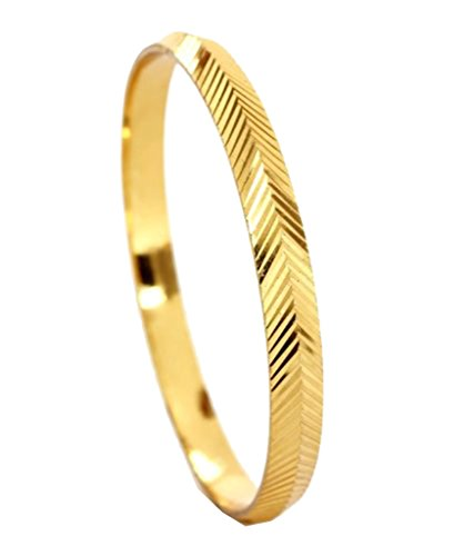 The Jewelbox Laser Large V Nakshi 22K Gold Plated Brass Punjabi Sardardji (Gents Gold Bracelet)