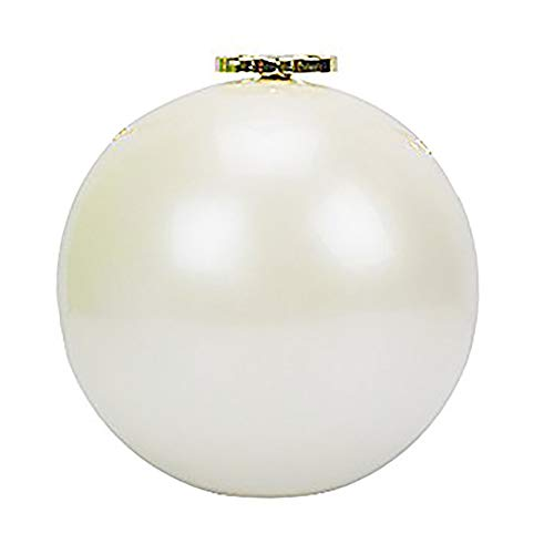 QZUnique Women's Acrylic Mini Round Ball Shape Purse Evening Bag Clutch Handbag White ()