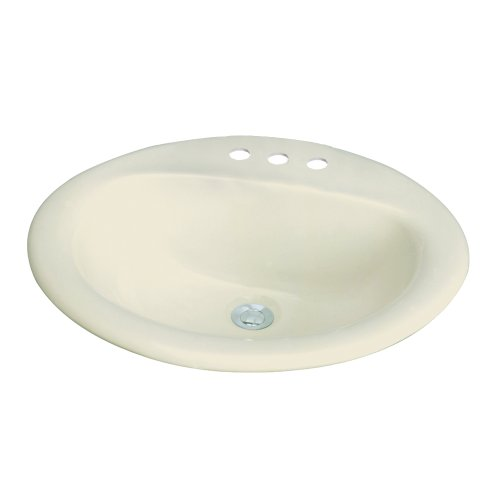 Transolid TL-1558-08 Akron Oval Drop-In Vitreous China Lavatory 8-Inch Centers, (Lavatory 8in Centers)