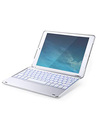 Anker Bluetooth Folio Keyboard Case for iPad 9.7 Inch, 7 Color Backlit Wireless iPad Case with Auto Sleep/Wake, Backlit Keys