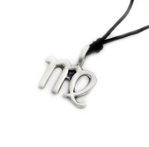 Virgo Silver Pewter Charm Necklace Pendant (Pewter Religious Charms)