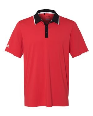 adidas Climacool Performance Colorblock Sport Shirt (A166) -Ray Red/Bl -XL