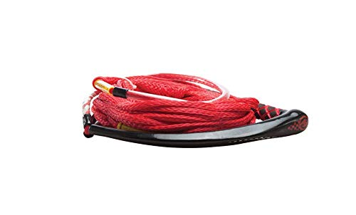 Hyperlite Apex PE EVA Handle - 65 Wakeboard Rope - Red - 4 Section. [87000129]