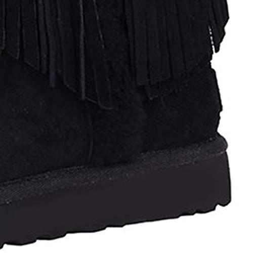 Brown Antiscivolo E Casual Cotone Stivali Impermeabili Neve Più Fondo 38 Scarpe Scarponi Stivaletti Color Velluto Black Size Di Da Outdoor Piatto Donna Camping 76n7qaH