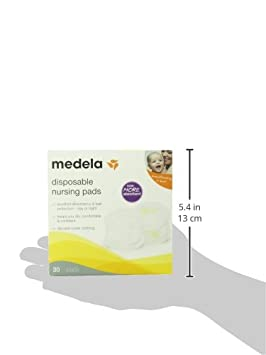 Double Adhesive Keeps Pads in Place Medela Nursing Pads Leak Protection Excellent Absorbency Pack of 120 Disposable Breast Pads