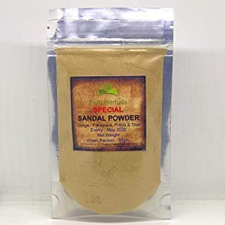 (Pam Herbals Special Sandalwood Powder For Face pack,Worship & Auspicious occasions (Sandalwood Powder 50g Pouch))
