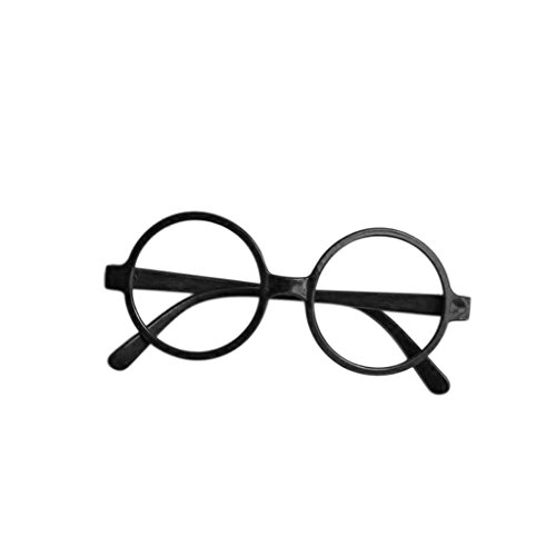 Seaskyer 1Pc Kid Round Shape Plastic Frame, Cute Glasses Frame Without Lenses for Birthday Halloween Costume Party Supplies Gift -
