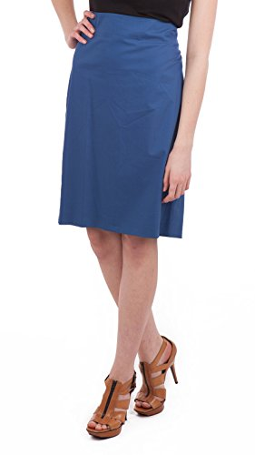 - Jil Sander Blue Twill Skirt, Blue, US 2 / DE 34