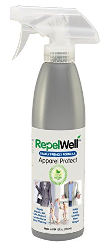 RepelWell Apparel Protect Stain & Water Repellent (12oz) Eco-friendly, Family & Pet-safe Spray Keeps Clothing, Outerwear, Shoes & More Clean, Dry and Looking New, Longer