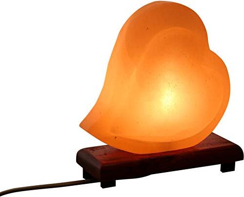 Mockins Natural Himalayan Salt Double Heart Shaped Lamp The Salt Lamp is Hand Carved with a Wooden Base and Dimmer - Best Mother's Day Gift … … … … … by Mockins (Image #8)
