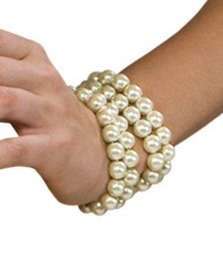 (Rubie's Toynk Toys - Multi Pearl Bracelet White One Size)