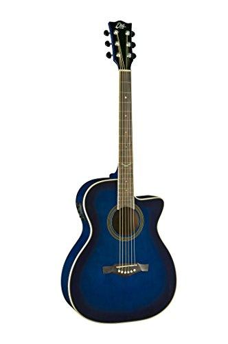 EKO Guitars 06217022 Auditorium Cutaway Acoustic-Electric Guitar, Blue Sunburst