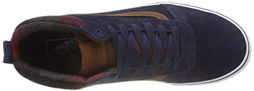 leather Altas Vans mte Para Hombre Ward Azul Mte Brown U2x Dress Zapatillas Hi Blues IxPZHS