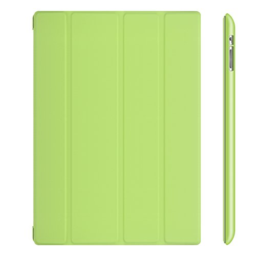 JETech Gold Folio Back Case for Apple iPad 4 & 3 (3rd and 4th Generation with Retina Display) / iPad 2 (Green) - 0212 - Green Ipad Case