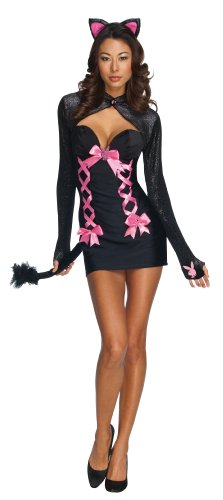 Secret Wishes  Licensed Playboy Costume, Cat Dress And Headpiece, Black, X-Small