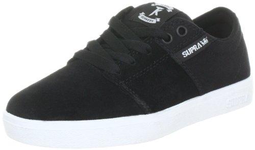 Supra TK Low Stacks Skate Shoe - Mens Black Suede/Canvas CpS32K8