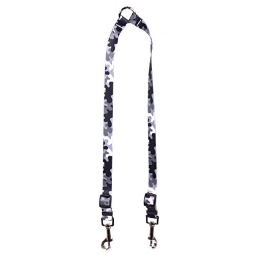 ack and White Camo Coupler Dog Leash 3/8