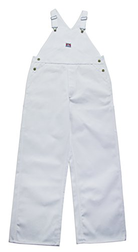 Ben Davis Men's Heavyweight Twill White Painter Bib Overalls (36W x 32L)