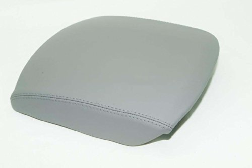Fits 2009-2013 Honda Pilot Synthetic Leather Gray CONSOLE LID ARMREST COVER (Vinyl Part Only)