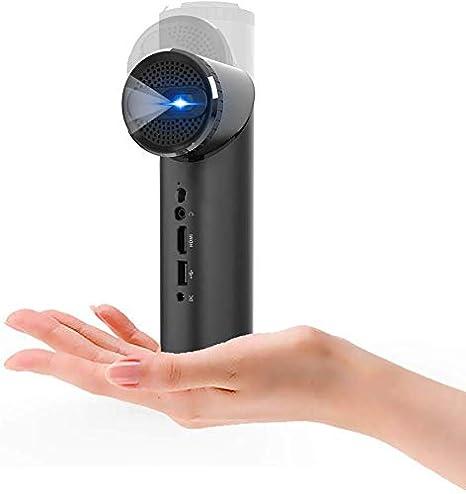 SWEET Proyector Inteligente Mini WiFi Proyector con La Lente Gira ...