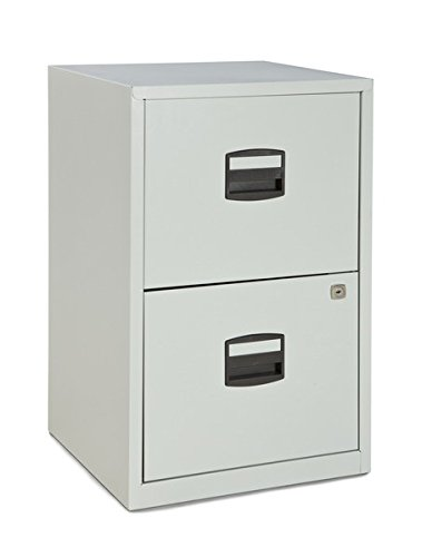 Charmant Bisley Two Drawer Steel Home Filing Cabinet, Light Gray (FILE2 LG)