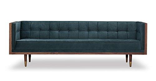 Kardiel Woodrow Midcentury Modern Box Sofa, Neptune - Box Woodrow
