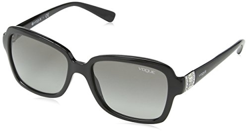 VOGUE Women's Injected Woman 0vo2942sb Rectangular Sunglasses, Black, 55 - Vogue Designer Sunglasses