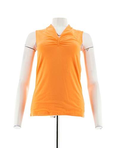 Liz Claiborne NY Essentials V-Neck Knit Top Sweet Orange XXS New A254849
