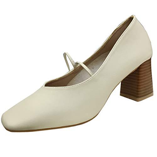 KOKQSX scarpe solo coi le con dura retro ' colore albicocca 6cm alto crossover 35 tacchi rwSzrgWcq