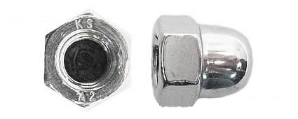 Dome Nuts (Pack of 25) DIN 1587 A2 Stainless Steel for M8 BefestigungsFuchs DIN 1587 M8 A2