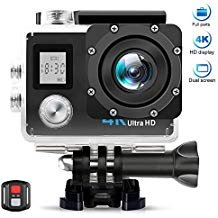 "AIMTOM TL-9 Action Camera, 4K 60fps Resolution Ultra HD Video Cam 170 Degree Super Wide Vision, 16MP 2"" LCD Screen 30M Waterproof WIFI HDMI Remote Control Portable Sports Camera Underwater Case AIMTOM"