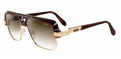 Cazal 672S Sunglasses 080 Amber/Gold w/Plastic - Style Sunglasses Cazal