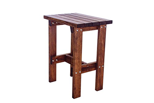 Quality Outdoor Patio Bar Height End Table - Cedar Square Patio Table