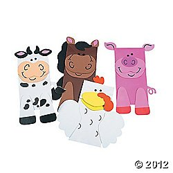 12 Farm Animal Puppets Paper Bag Craft