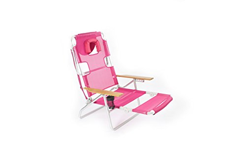 Ostrich 3-in-1 Chair, Pink - Deluxe Beach Chair