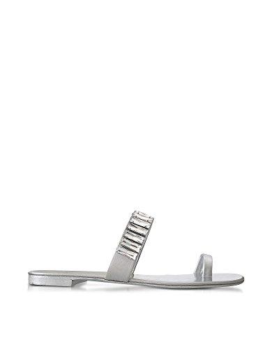 Giuseppe Zanotti Design Mujer E70093003 Plata Cuero Sandalias