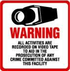 2 Pack Commercial Grade Outdoor / Indoor Security Surveillance CCTV Video Warning Decal – Deterrence, Security, Safety 4″x4″
