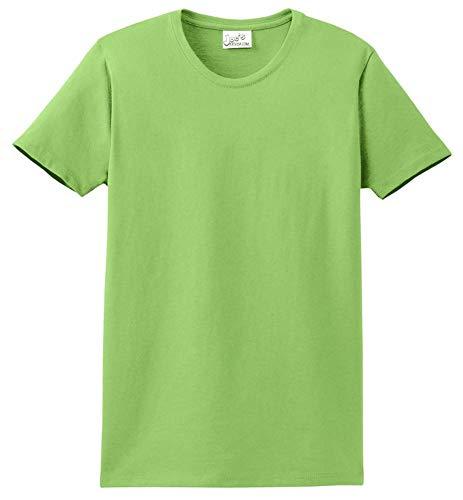 Joe's USA - Womens 6.1-Ounce Cotton T-Shirt-M-Lime