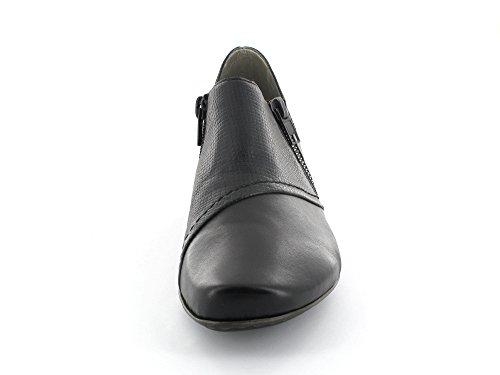 Rieker 53861-00 - Mocasines para mujer negro