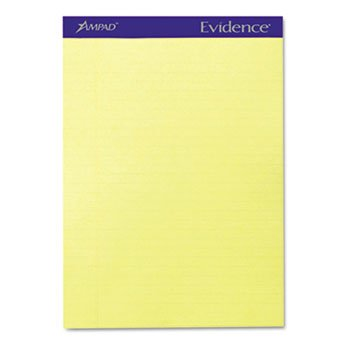 Ampad® Evidence® Perforated Writing Pads PAD,LGL RULED,PRF,LTR,CAN (Pack of4) by Ampad