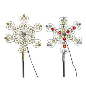 Vickerman 12 Count Warm White Micro LED Beaded Tree Top, 9-Inch, Silver