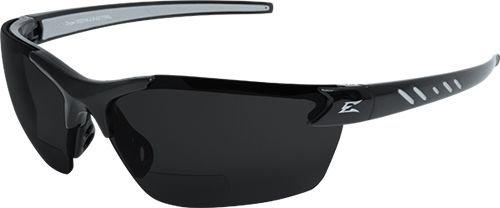 (Edge Eyewear Zorge G2 Safety Glasses Black Frame / Polarized Smoke 2.0 Magnification Lenses,)