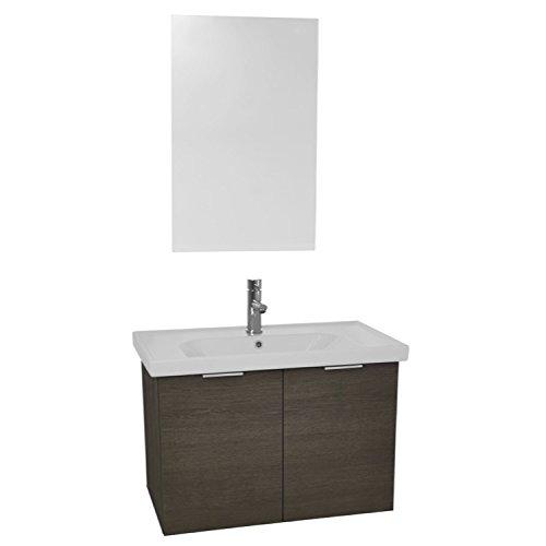 "lovely ARCOM ARCOM LAM89 Lamlooma Wall Mounted Bathroom Vanity Set with Vanity Mirror Included, 32"", Grey Oak"