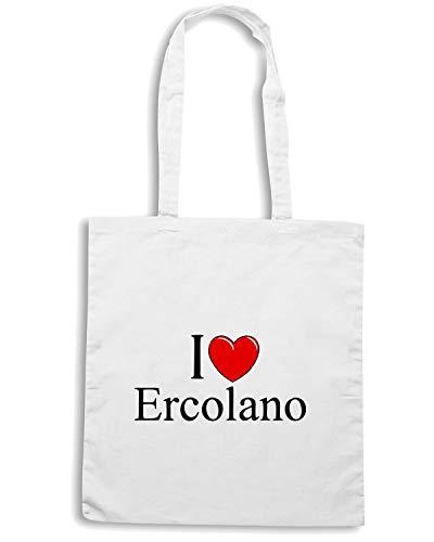 I ERCOLANO Borsa TLOVE0035 Shopper HEART LOVE Bianca BxTqZHwU