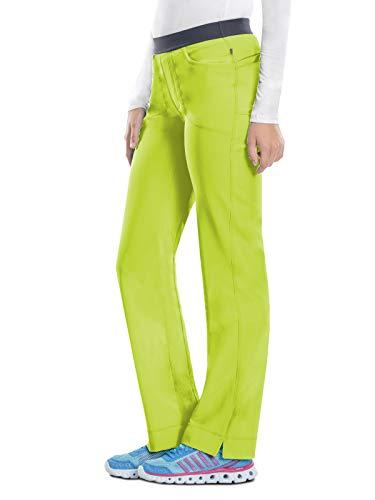 Cherokee Women's Infinity Low-Rise Slim Pull-On Scrub Pant, Citrus, Medium -