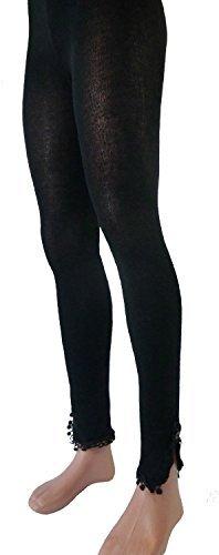 Leggings femmes fantasie avec dentelle 80 LE - Noir, XXL=44/46